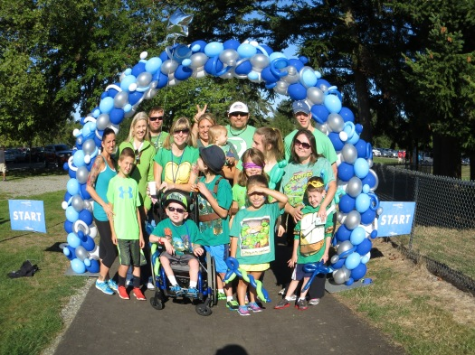 The team of Logan's Hero's at the Walk for Wishes - Make a Wish Walk!